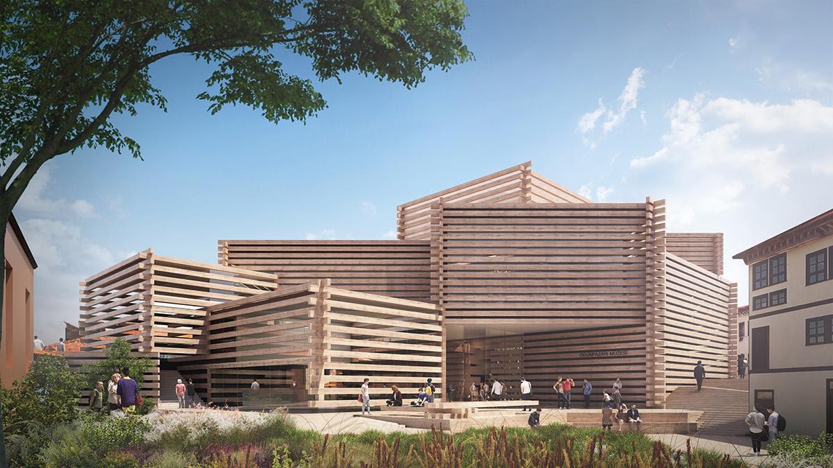 Kengo Kuma Designs Turkish Modern Art Museum Formed Of Stacked
