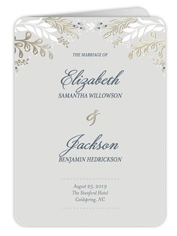 Free Customizable Wedding Program Template   Shutterfly