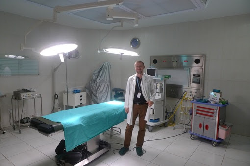 Your correspondent in the 'big operation theatre' at Harare Trauma Centre.