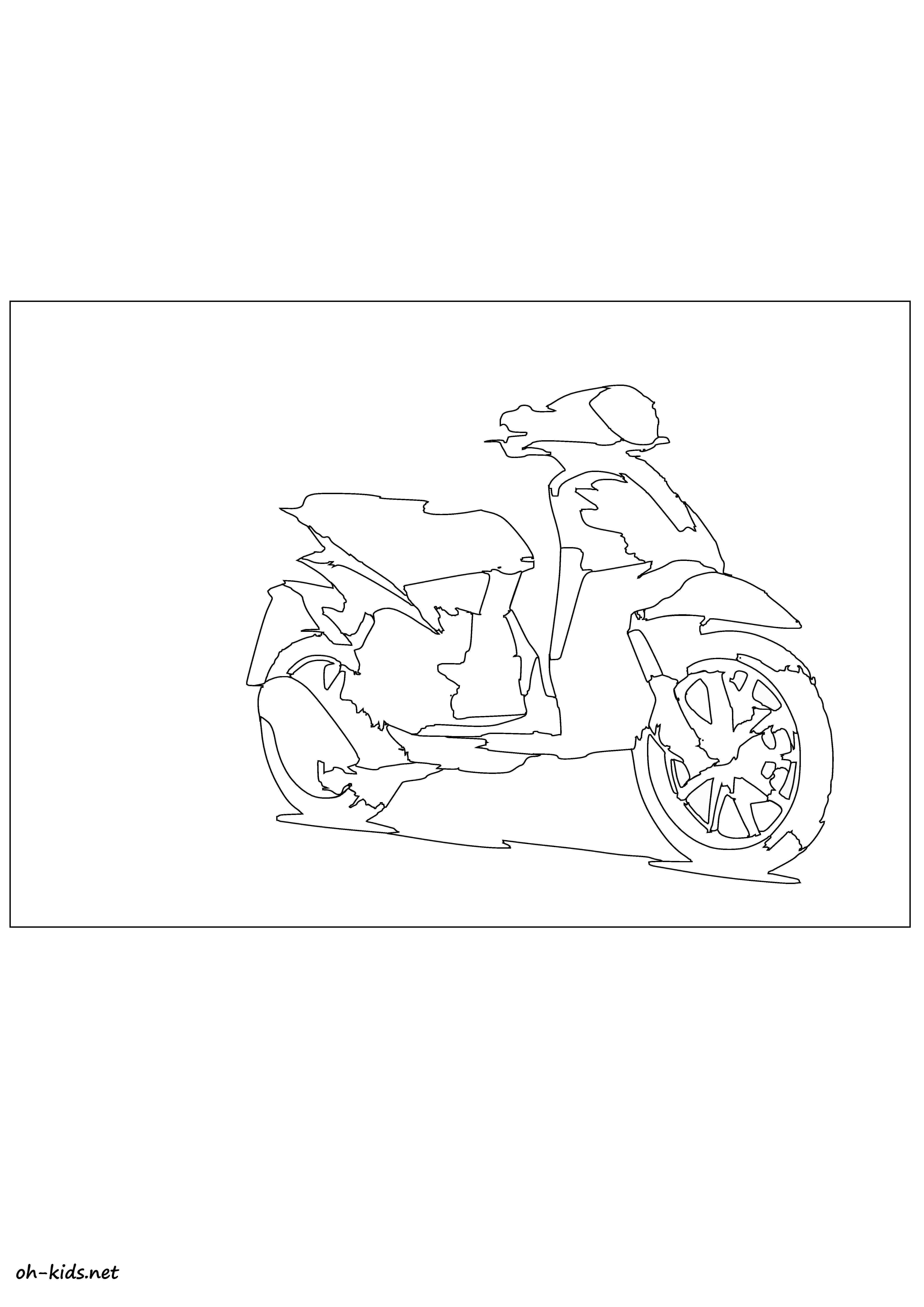 Coloriage Scooter Oh Kids Fr