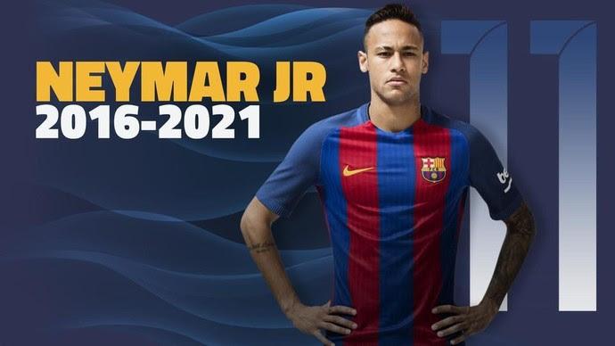 Neymar renovação Barcelona (Foto: Divulgação/Site oficial do Barcelona)