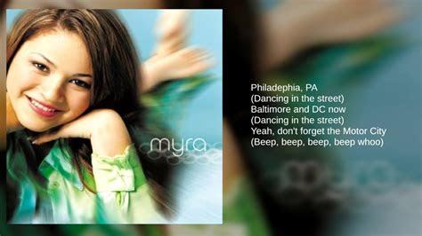 myra  dancing   street lyrics youtube
