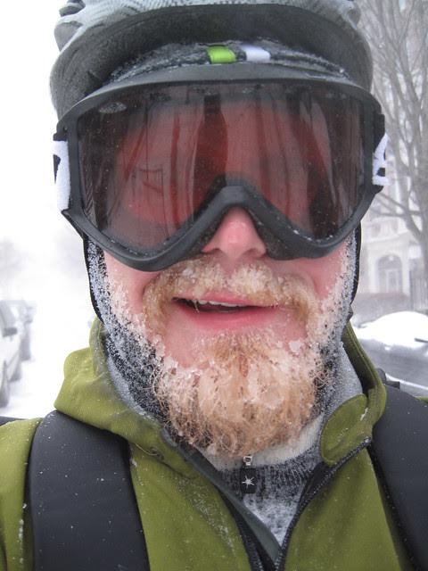 Ice beard.