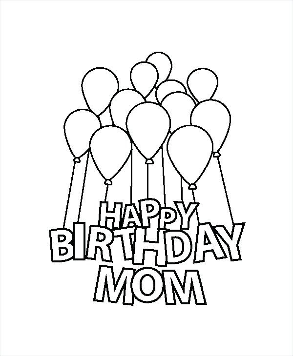 Happy Birthday Mom Printable Coloring Pages at ...
