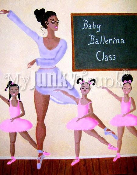 Baby Ballerinas- African American Children's Ballet Print