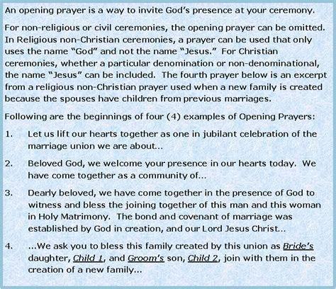 Lovely Non denominational Wedding Reception Prayer