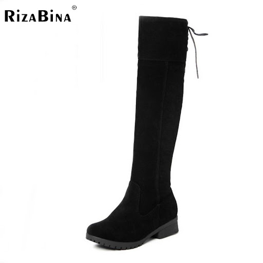 d51ee660b74 women flat over knee boots fashion long boot riding warm snow winter botas  militares footwear brand shoes P20219 size 34-44