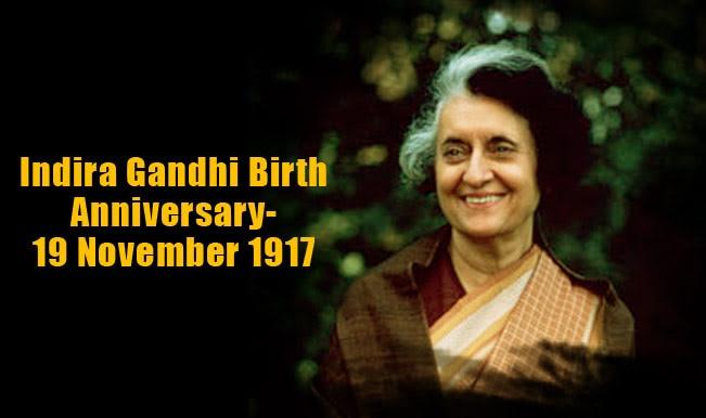 Image result for indira gandhi birthday