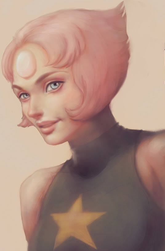 Art trade with my friend TheObliviousOwl , he asked me to draw Pearl from Steven Universe. It was quite fun to paint and to discover this series In exchange he drew Sailor moon for me! Come and che...