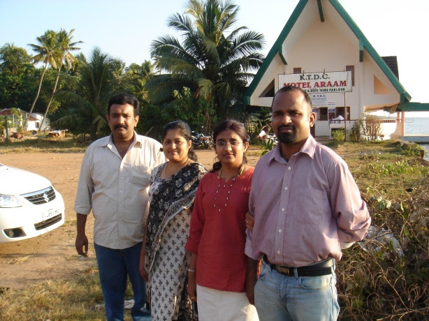 rajesh, his wife Viji, me and Vijith