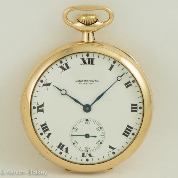 Ball 14k Gold Pocket Watch Ashton Blakey Vintage Watches
