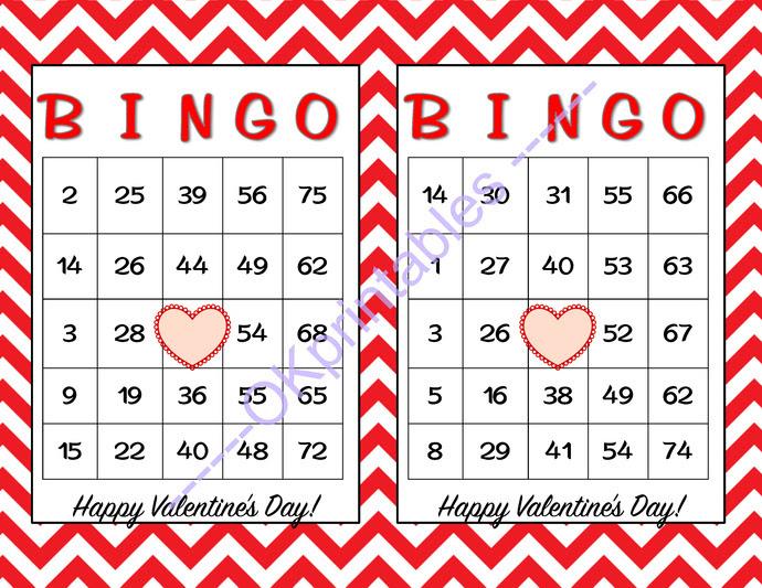 60 Happy Valentines Day Bingo cards - | okprintables