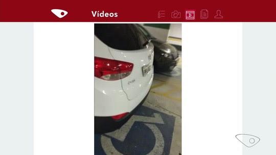 Resultado de imagem para Motoristas são flagrados estacionando em vagas para pessoas com deficiência, no ES