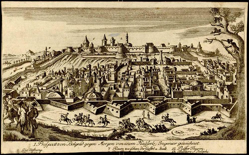 Plan Beograda, 1730s (artist uknown)