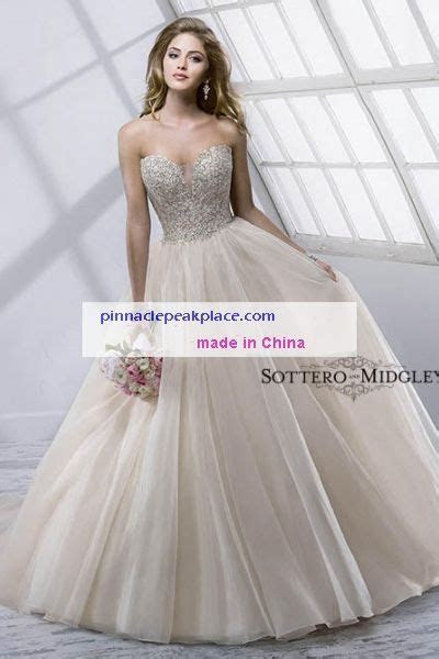 sottero and midgley Angelette 4SS811 Strapless zipper over