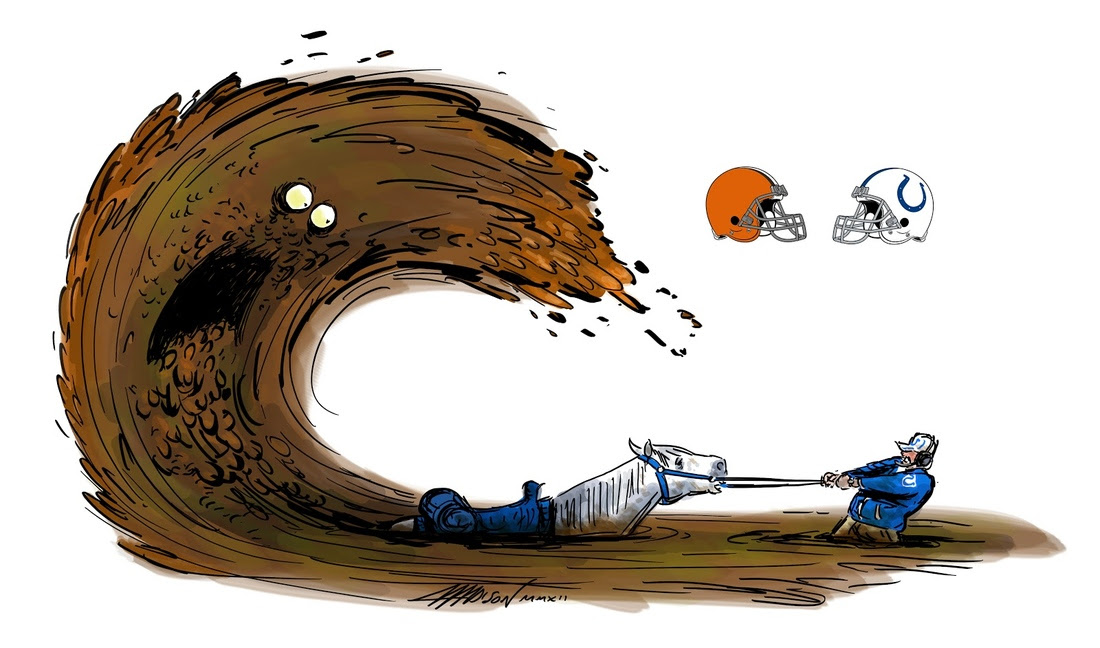 Pixar Animator Draws the NFL's Browns vs. Colts Game - Dawgs By Nature