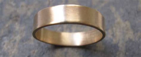 Men's thick gold band wedding ring   London's Artist Quarter