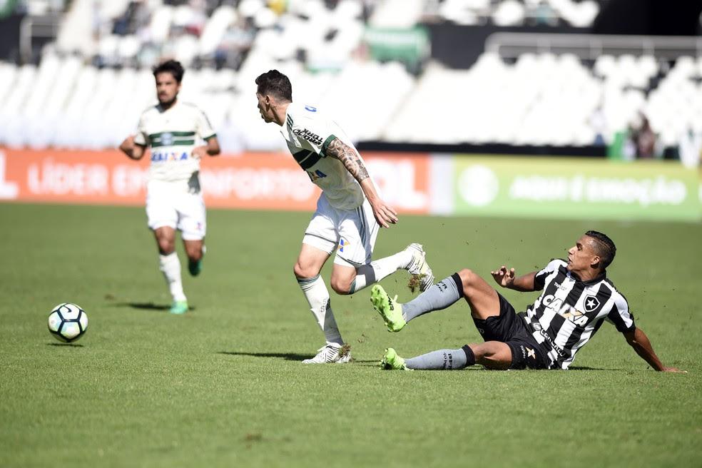 Coritiba ficou duas vezes à frente no placar, mas acabou sofrendo o empate (Foto: André Durão/GloboEsporte.com)