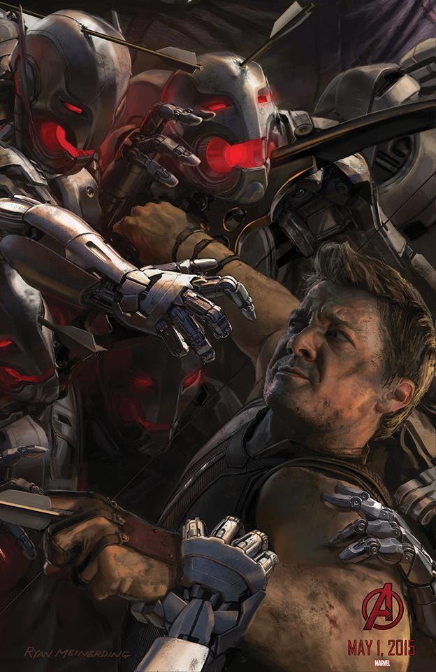 """Ojo de Halcón en el Poster de """"Los Vengadores : La Era de Ultron"""""""