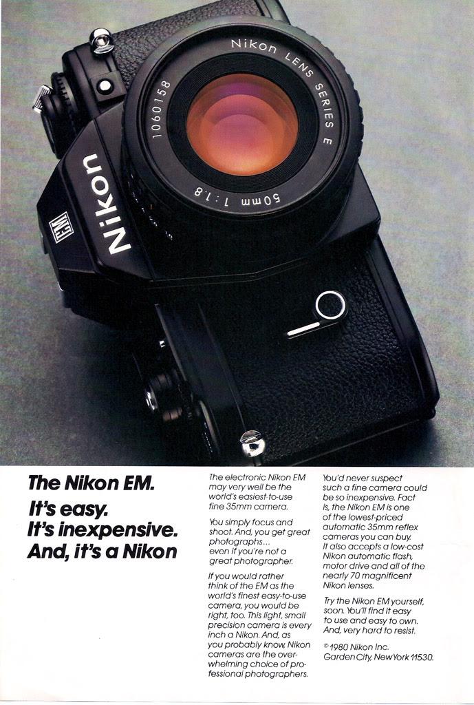 Nikon EM Camera Ad - 1980