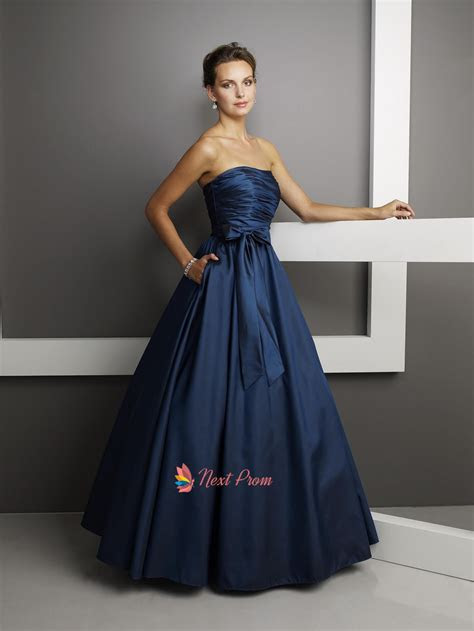 Cheap Strapless Dark Navy Blue Prom Dresses 2013 Long UK
