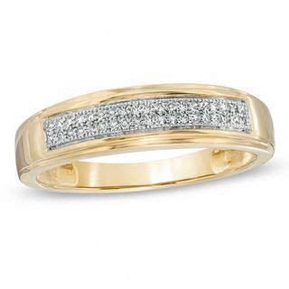 Men's 1/8 CT. T.W. Diamond Wedding Band in 10K Gold