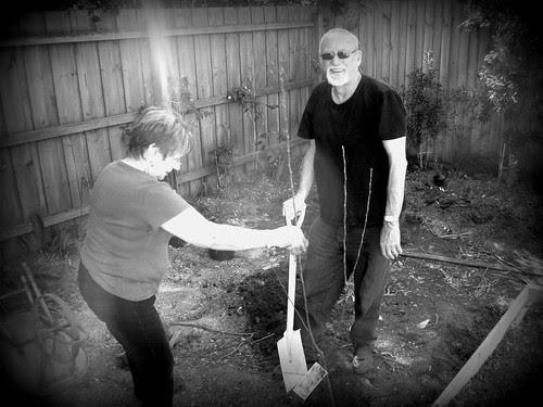 folks gardening