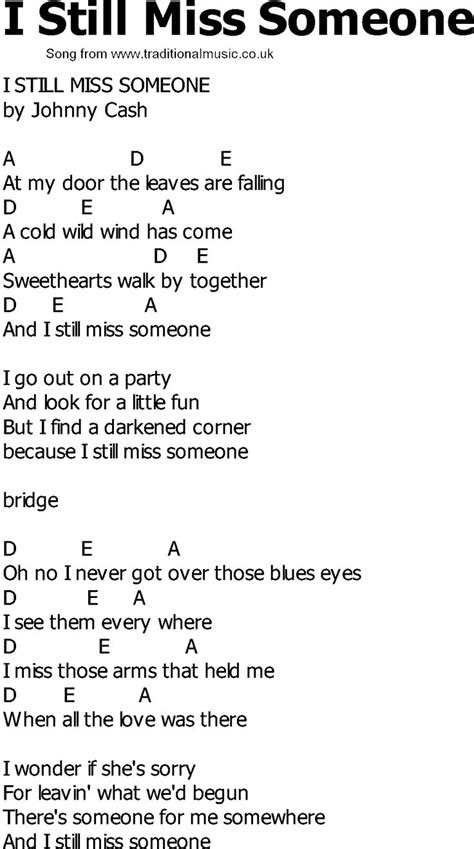Country Song Quotes About Missing Someone