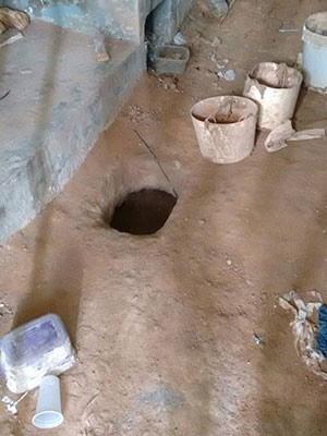 Túnel aberto em Parnamirim tinha 25 metros de profundidade (Foto: Divulgação/GOE)