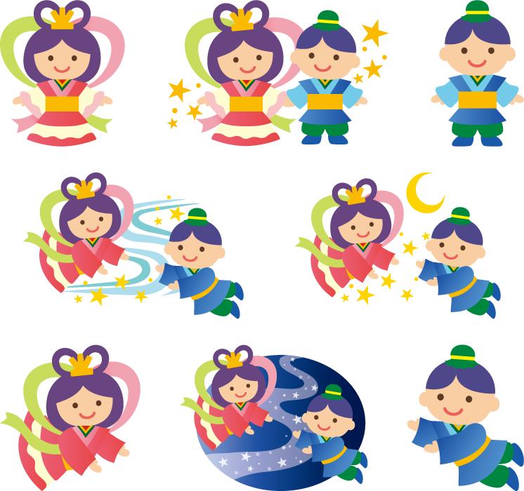 七夕 織姫と彦星 イラスト素材 3801615 フォトライブラリー