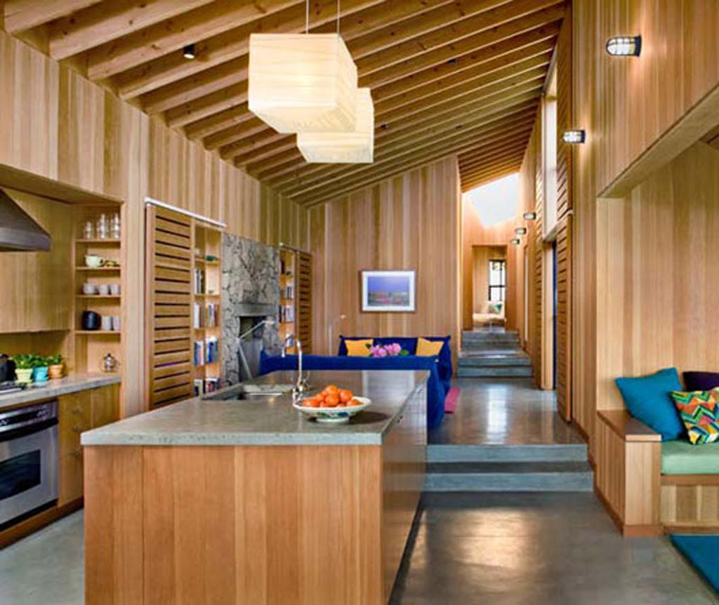 wooden rustic kitchen area | Interior Design Ideas.