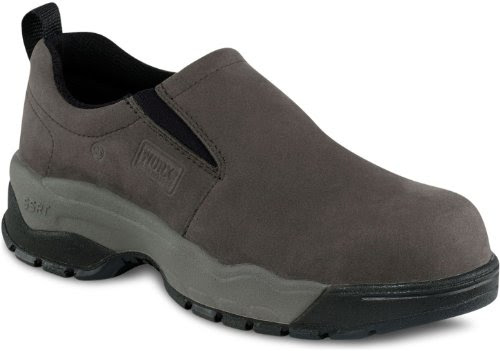 WORX by Red Wing Shoes  Women's Jungle Moc Slip-On Safety Toe,Grey,9 M