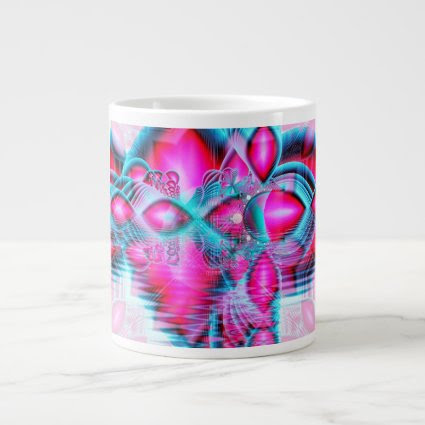 Ruby Red Crystal Palace, Abstract Jewels Extra Large Mug