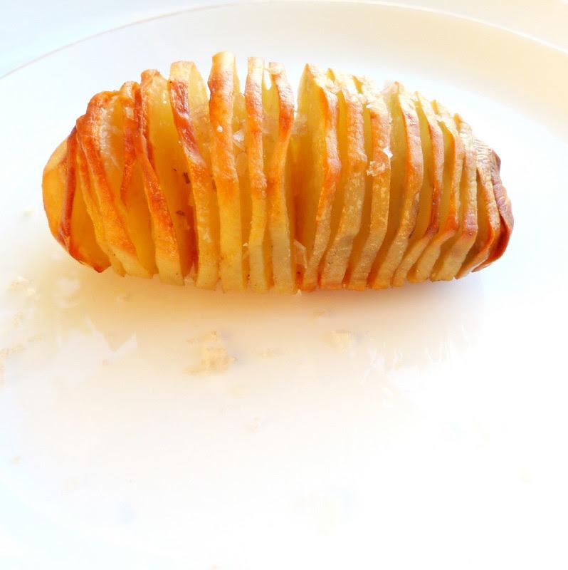 Pomme de terre en porte-feuille de laurier