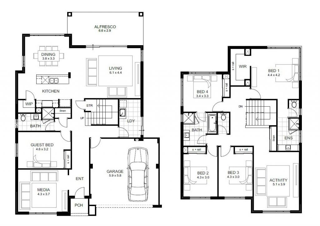 Beautiful 5 Bedroom Double Storey House Plans - New Home ...