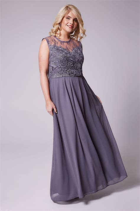 AX PARIS CURVE Dusky Purple Sleeveless Maxi Dress With