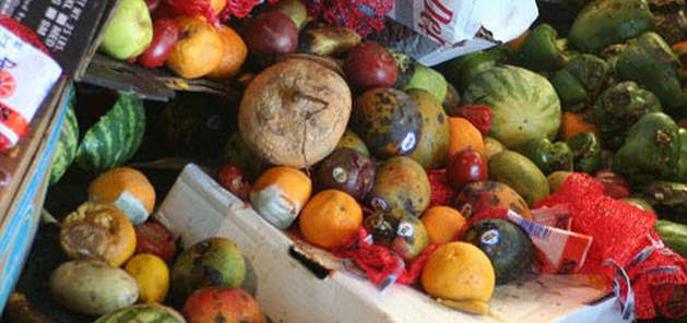 Food waste, food losses represent a waste of resources used in production such as land, water, energy and inputs, increasing the green gas emissions in vain. Photo: FAO