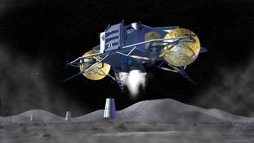 An artist's concept for the ALTAIR lunar lander.