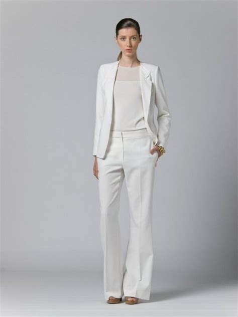 maxmara white pant suit white suits  women outfit