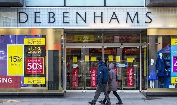 High street bloodbath continues as Debenhams is latest casualty with 116 shops to close