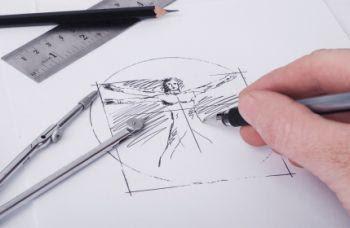 Recreating Da Vinci's Virtruvian Man.