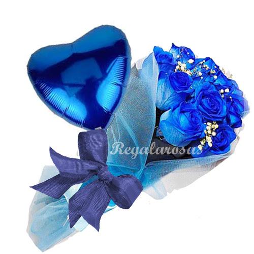 Rosas Azules De Amor Regala Rosas A Domicilio En Santiago