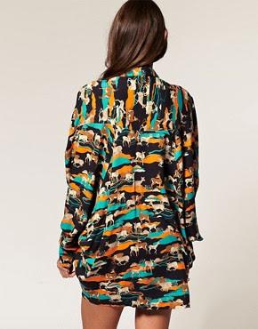 Image 2 ofASOS Kimono with Deer Print