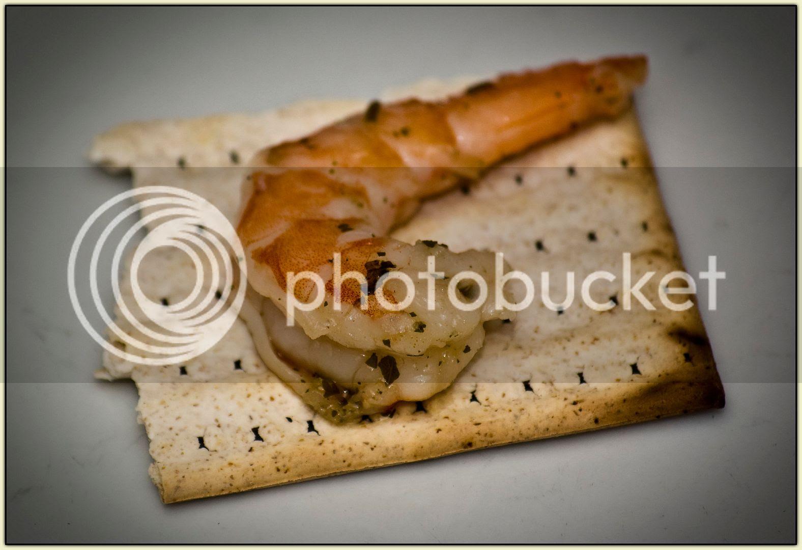 Shrimp on Shmurah Matzoh