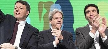 Renzi, Gentiloni e Martina