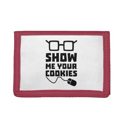 Show me your Cookies Zx363 Tri-fold Wallets