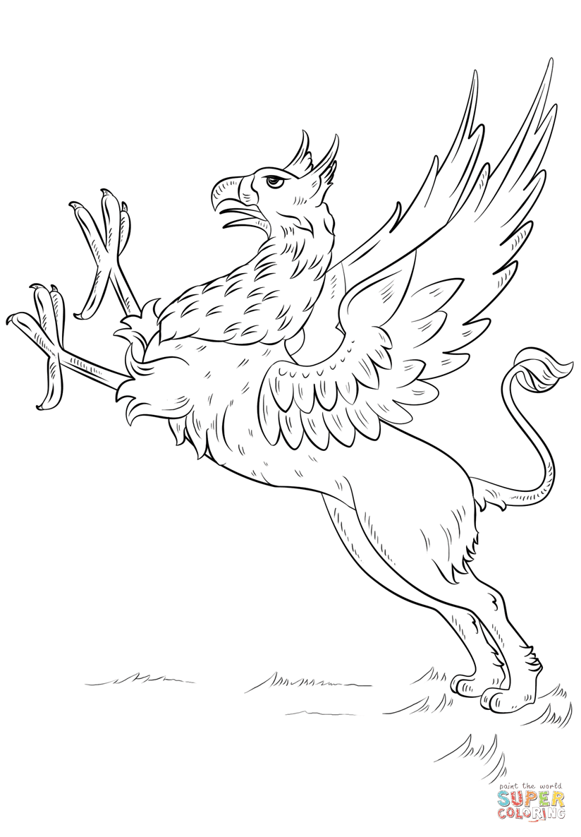 Griffin coloring page | Free Printable Coloring Pages