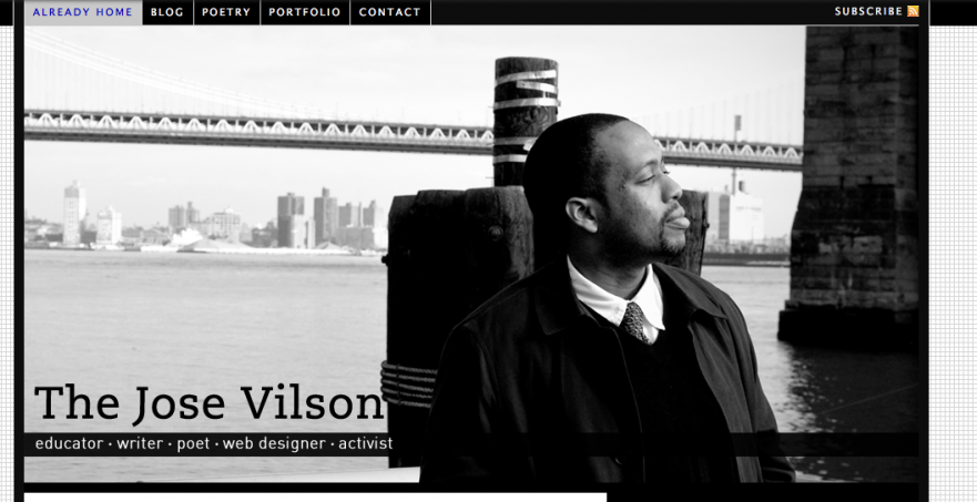 One of my first website looks.