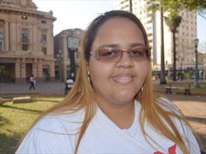 Nahla Camila recebeu indenização por ser chamada de gorda na empresa onde trabalhava em Ribeirão Preto, SP (Foto: Adriano Oliveira/G1)