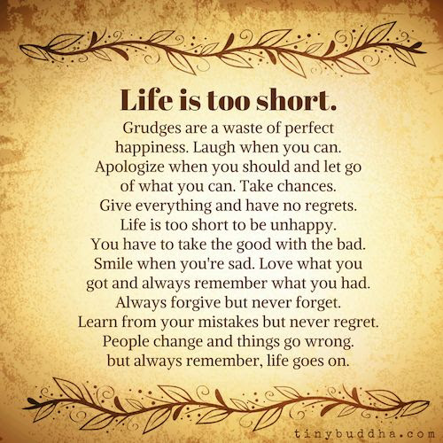 Life Is Too Short Moveme Quotes